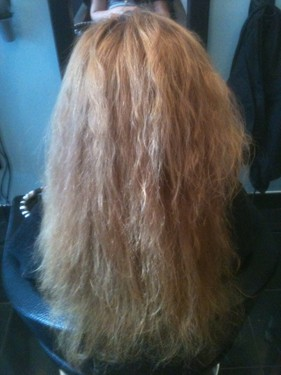Keratin Brazilian Blow Dry Treatment before