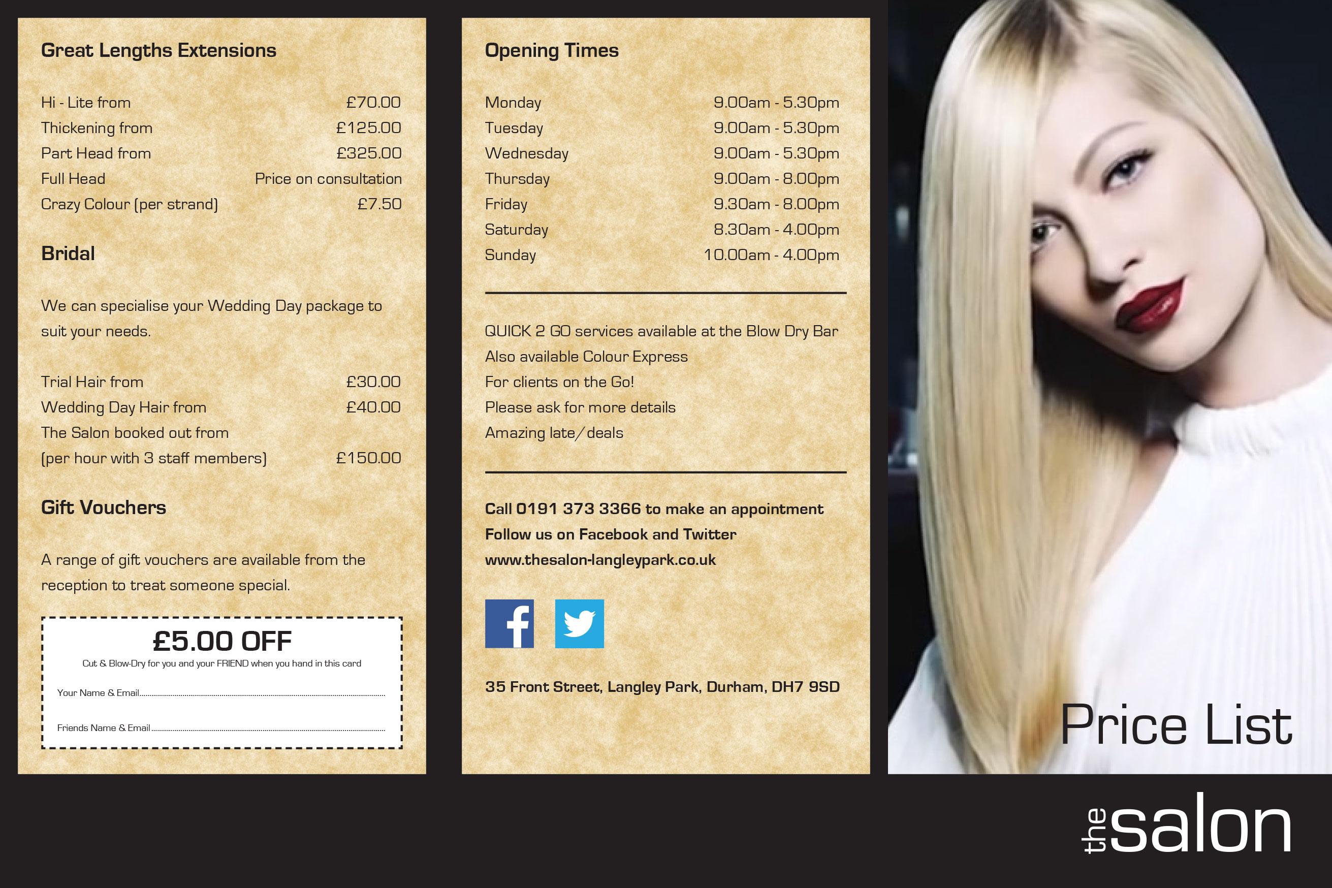 Hair Style Prices: Hair Salon Makeup Nails Waxing Hair