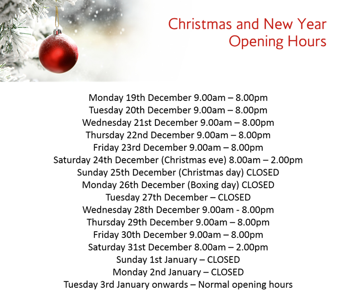 the-salon-langley-park-xmas-opening-times