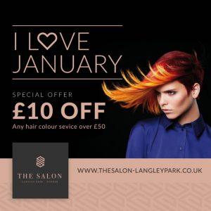 January hair colour offer the salon Langley park durham