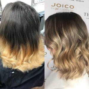 hair colour correction services at the salon langley park