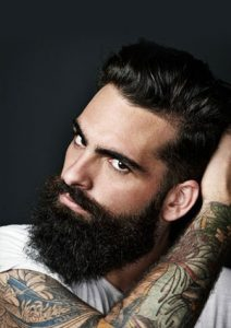 Slick Back Beard at the salon durham