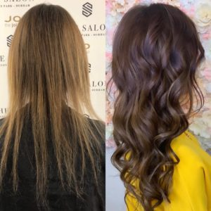 hair extensions at The Salon Durham