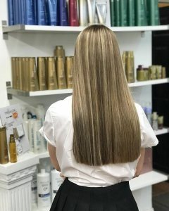 long and straight Hair Cuts & Styles at The Salon, Langley Park & Sherburn Village in Durham