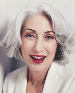 Grey hair colours for older ladies at The Salon, Langley Park
