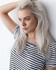 On trend silver grey hair colours for girls at the Salon Durham