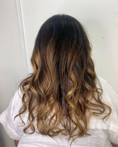 toffee toned balayage hair colour at the Salon A Top Salon in Langley Park