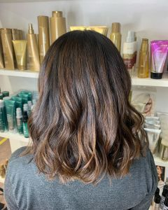Glossy Balayage Hair Colour for brunettes At The Salon, Langley Park in Durham
