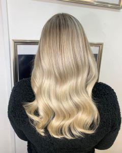 platinum blonde balayage hair colours at the Salon, Durham