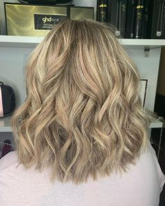 Honey toned Balayage Hair Colour At The Salon, Langley Park in Durham