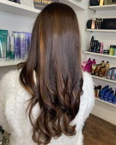 Chocolate Balayage Hair Colours At The Salon, Langley Park in Durham